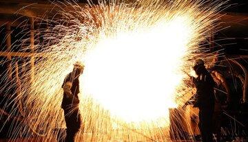 لحظه تبدیل سنگ آهن به شمش در جهان فولاد سیرجان