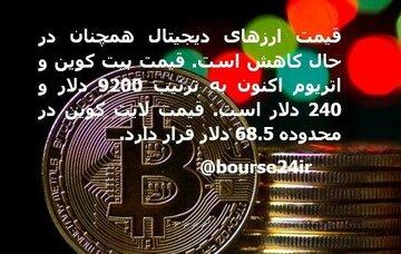 قیمت امروز ارزهای دیجیتال