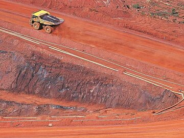 کاهش صادرات سنگ آهن برزیل