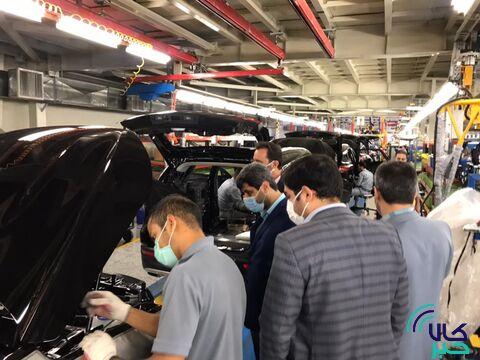 گزارش تصویری بازدید معاون بورس کالا از خط تولید شرکت بهمن موتور